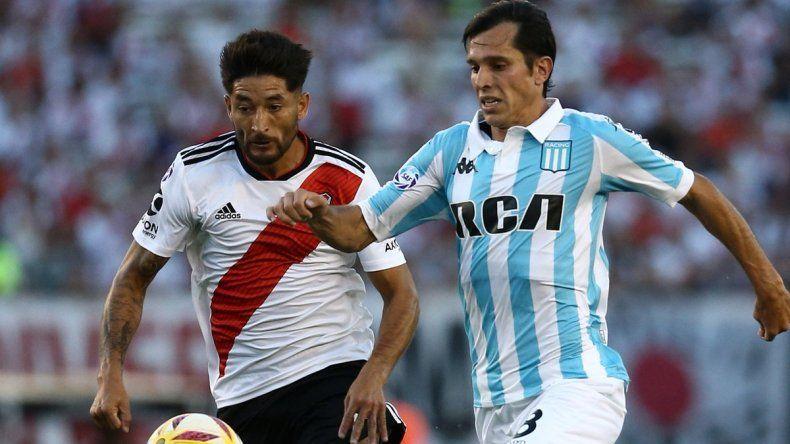 Milton Casco y Augusto Solari serán titulares esta noche en el partido que se jugará en Avellaneda entre Racing y River.