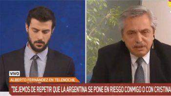 Alberto Fernández incomodó a Diego Leuco mientras lo entrevistaba