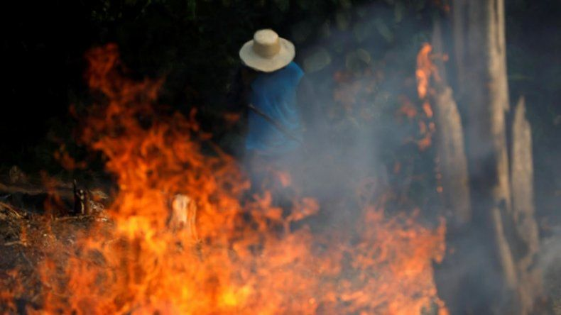 Imágenes lamentables del incendio en el Amazonas