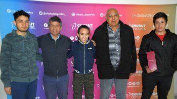 Algunos de los protagonistas fueron recibidos en Chubut Deportes.