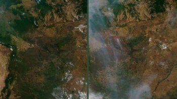 el antes y el despues de los incendios en amazonas
