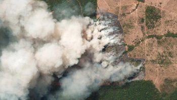 ingreso al norte del pais el humo de los incendios del amazonas