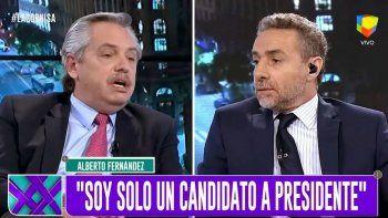 Alberto Fernández dejó en ridículo a Luis Majul en su programa