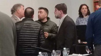 Federico Gatica y sus abogados. El contador ocuparía un rol clave en la organización, al blanquear los ingresos malhabidos.