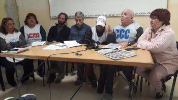 La Mesa de Unidad Sindical anunció que el martes viajará hacia la Legislatura para pedir por la Ley Tributaria.