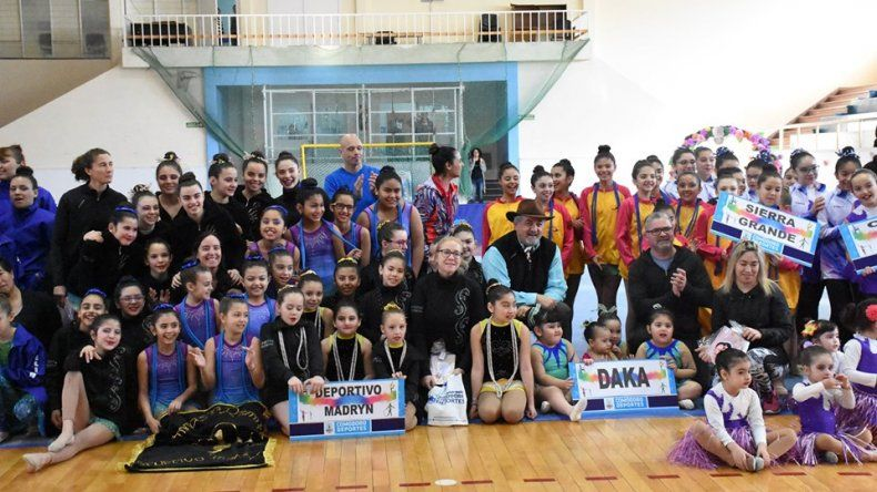 La gimnasia rítmica tuvo su fiesta el fin de semana en el gimnasio municipal 1.