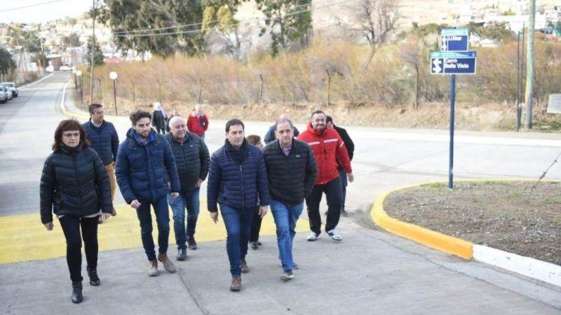 El barrio Sismográfica estrenó más de  4 mil metros cuadrados de pavimento