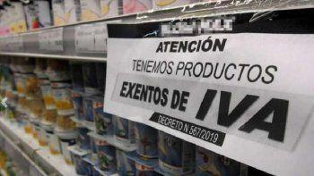 La eliminación del IVA desaceleró la suba de precios