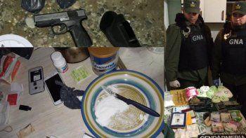 ocho detenidos en multiples allanamientos por drogas