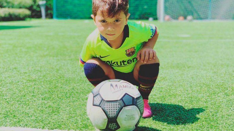 Mateo Messi se volvió tendencia mundial por cumplir 4 años