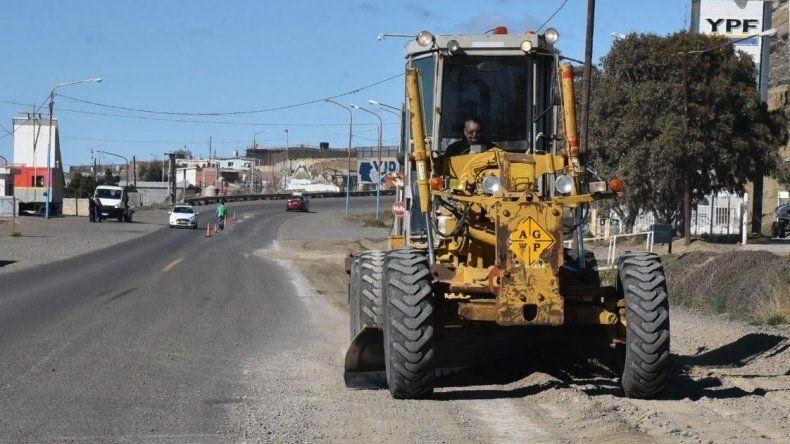 El acceso Norte comenzó a ser reparado por Vialidad Provincial mediante un convenio de prestación de servicios que formó con Vialidad Nacional.