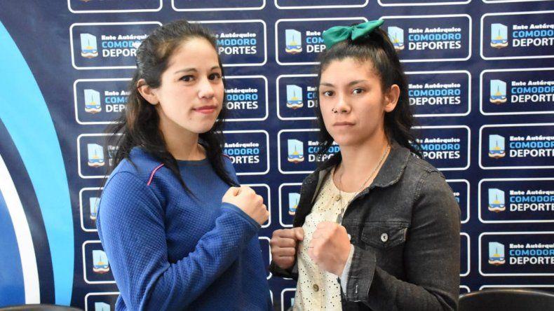 Daiana Molina y Elizabeth Britos protagonizarán esta noche la pelea de fondo en el gimnasio municipal 1.
