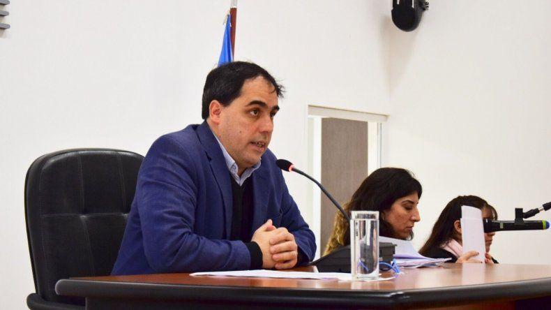 El concejal Maximiliano Sampaoli presidió la sesión de ayer.
