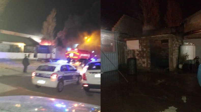 Explosión e incendio en un depósito de barrio Industrial