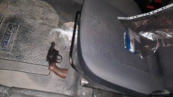 El revólver que fue secuestrado en el procedimiento.