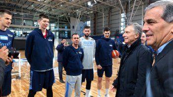 macri recibira a la seleccion argentina de basquet