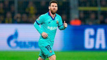 Lionel Messi ingresó a los 15 minutos del segundo tiempo en el empate entre el Borussia Dortmund de Alemania y el Barcelona de España.