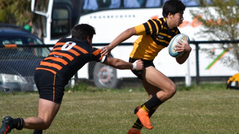 El rugby se jugó en la modalidad de Seven entre Bigornia Club de Rawson y Patoruzú RC de Trelew.