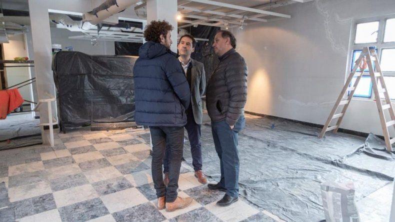 Linares, Luque y Romero supervisaron los trabajos.
