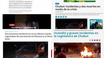 El trágico accidente y los destrozos en los medios nacionales
