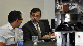 Fiscalía investiga los daños en Legislatura y Casa de Gobierno