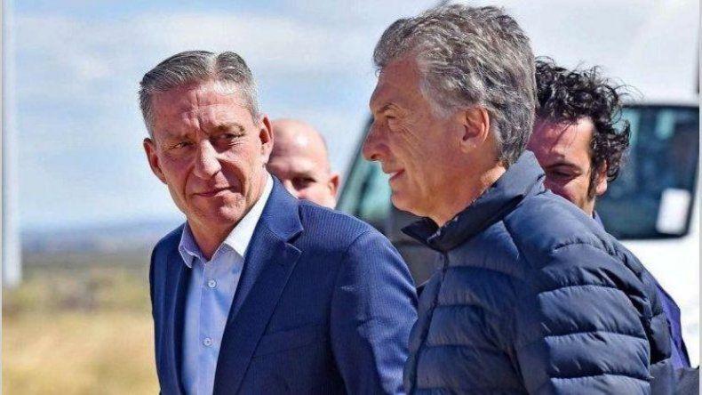 Mauricio Macri junto a Mariano Arcioni en una de las visitas del presidente a Chubut para inaugurar parques eólicos.
