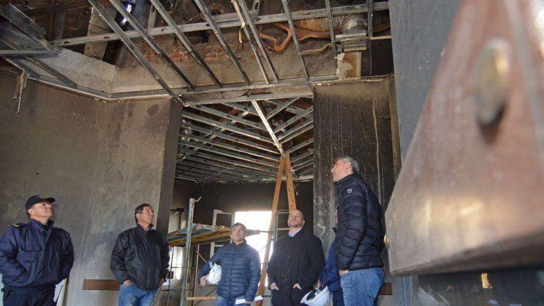 Aguilera evaluó que reparar los daños en la Casa de Gobierno llevará largo tiempo