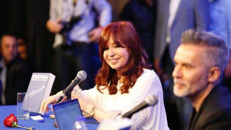 Cristina Fernández de Kirchner durante la presentación de su libro en la Universidad de La Matanza.