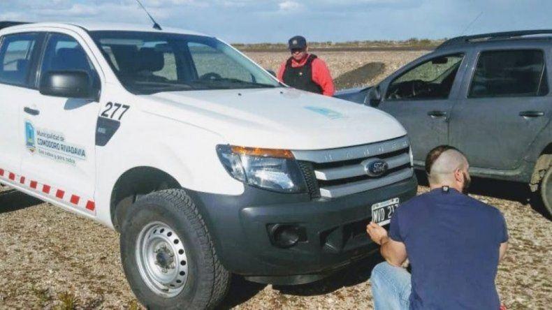 Personal policial encontró el vehículo abandonado a un costado de la ruta Nacional 3.