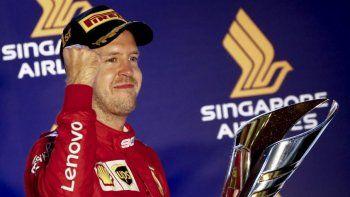 Sebastian Vettel volvió a ganar tras más de un año
