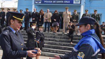 En la ceremonia celebrada a mediodía de ayer se entregaron distinciones al personal de la dependencia que se destacó en actos de servicio.