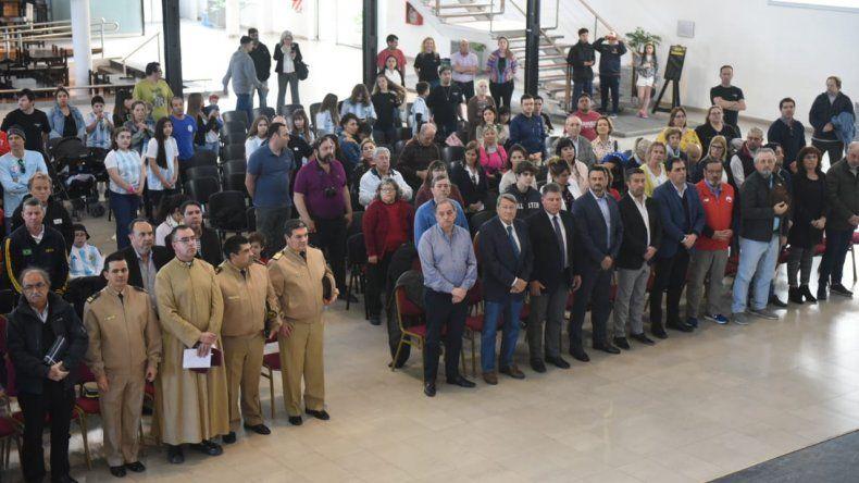 El acto inaugural del Campeonato Panamericano de Pesca Submarina tuvo lugar ayer en el Centro Cultural de Comodoro Rivadavia.