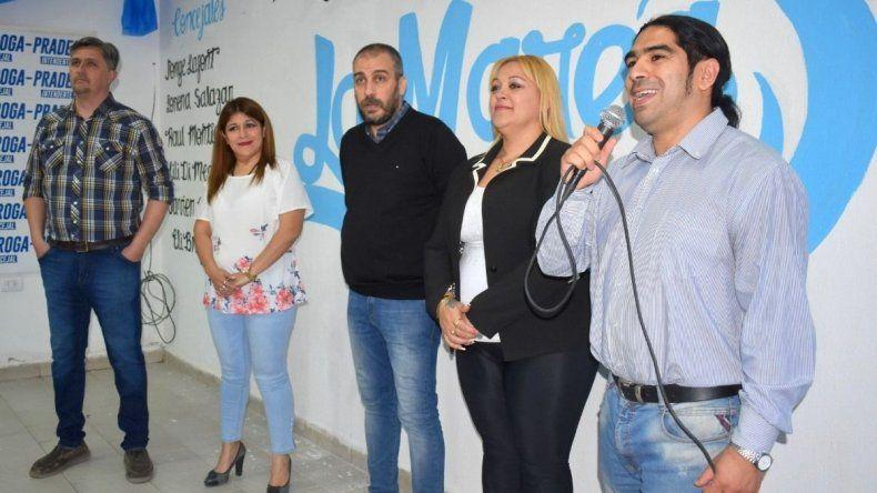 El candidato a concejal en primer término por el sublema La Marea