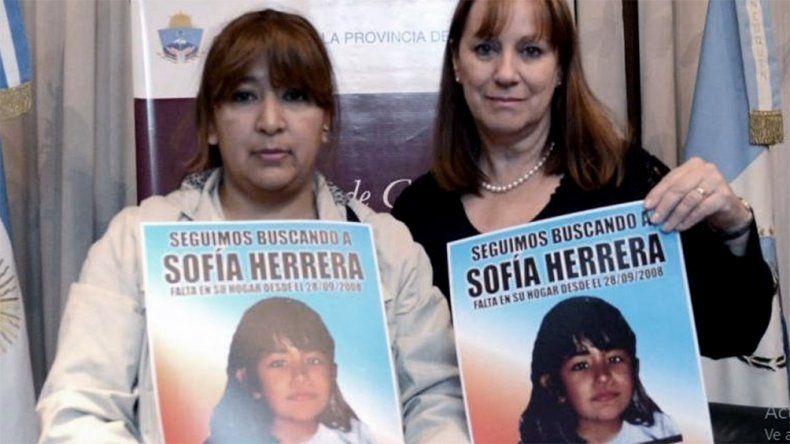 A once años de su desaparición piden compartir la imagen de Sofía Herrera