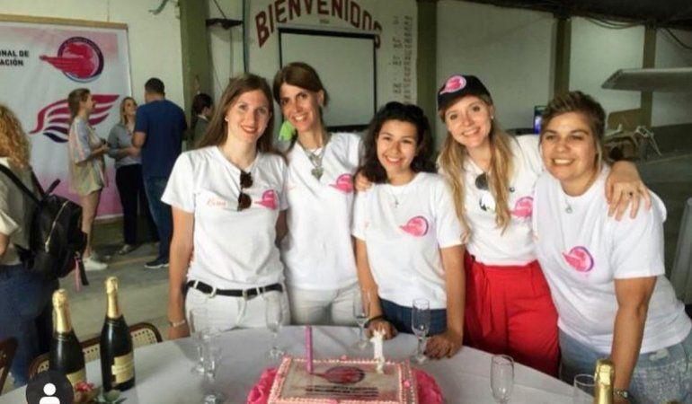Las cinco impulsoras del Primer Encuentro Nacional de Mujeres en Aviación.