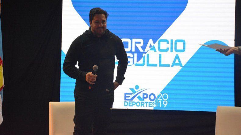 Horacio Agulla contó su experiencia de vida durante la visita que realizó con motivo de la Expo Deportes.