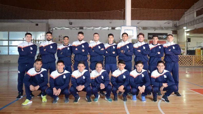El plantel de la Comisión de Actividades Infantiles que esta tarde debutará en el Torneo Clasificatorio de la Patagonia al Regional 2020.