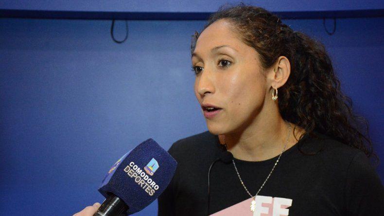 Cecilia Biagioli también disfrutó de la Expo Deportes 2019 que se realizó en Comodoro Rivadavia.