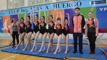 Las chicas del Club Huergo están listas para el Nacional de gimnasia artística que se realizará a fines del próximo mes en San Juan.