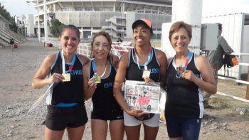 Campeonas nacionales, posta 4x400, Valeria Arias-Patricia Saiquita-Iris Barrionuevo y Ana Vidal.