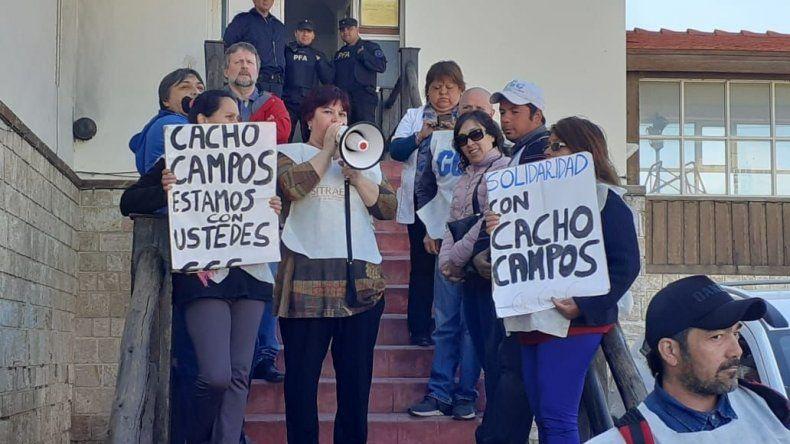 Estatales y organizaciones sociales se movilizaron en apoyo de Héctor Campos