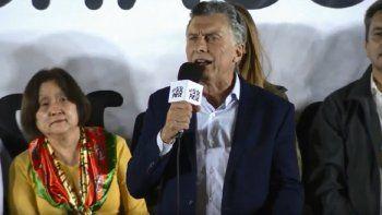 Macri pidió que escuche todo Corrientes en un acto que encabezaba en Chaco