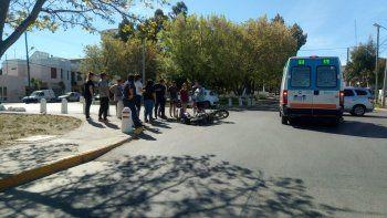 motociclista herido tras un accidente en alsina y maipu