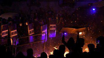 Al menos 35 heridos y 128 detenidos tras una marcha por la independencia de Cataluña
