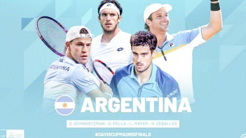 Los cuatro tenistas que designó el capitán Gastón Gaudio para jugar a partir del próximo mes la nueva Copa Davis.