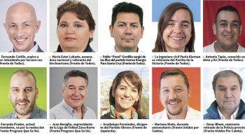 los caletenses elegiran entre 11 candidatos a intendente y 448 a concejales