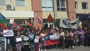 en comodoro expresaron su apoyo al pueblo chileno