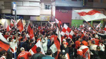 Festejo Millonario en el centro de Comodoro