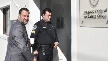El abogado Luis Tagliapietra compareció el jueves en el Juzgado Federal de Caleta Olivia para prestar declaración indagatoria.