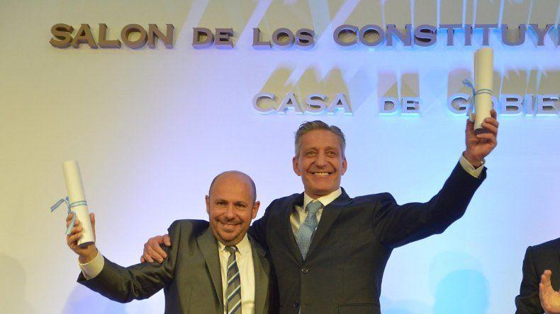 Arcioni y Sastre, proclamados como gobernador y vice electos